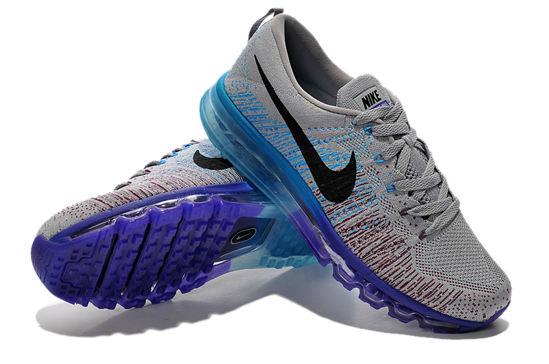 Nike Air Max 2014 Flyknit Grey Blue Shoes