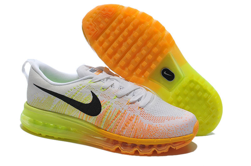 Nike Air Max 2014 Flyknit Grey Yellow Shoes
