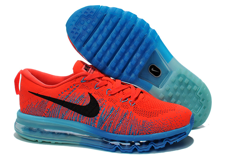 Nike Air Max 2014 Flyknit Orange Blue Shoes