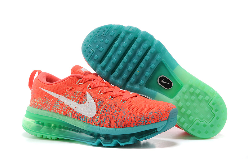 Nike Air Max 2014 Flyknit Red Blue Shoes