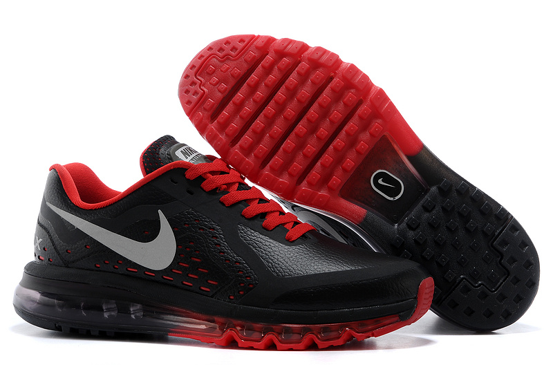 Nike Air Max 2014 Leather Black Red Shoes