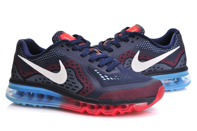 Nike Air Max 2014 Cushion Blue Red Blue Shoes