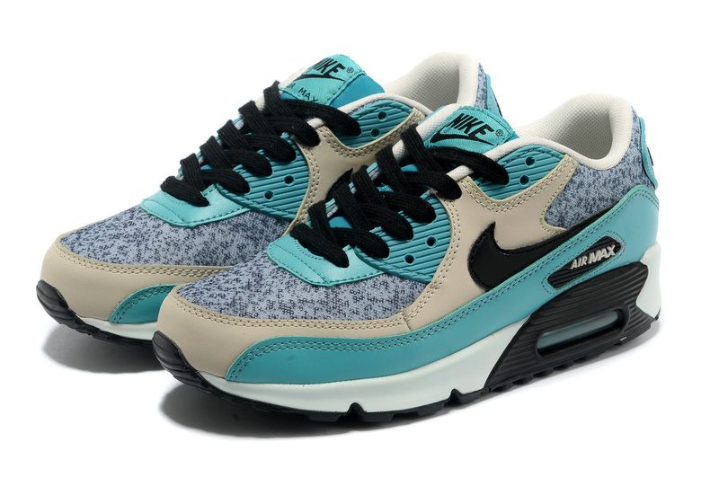 Nike Air Max 90 Blue Grey White Black For Women