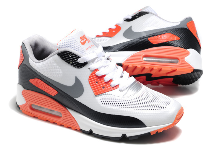 Nike Air Max 90 Mesh White Grey Red Shoes