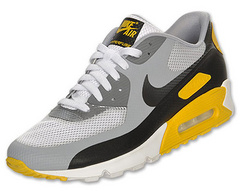Nike Air Max 90 Mesh White Grey Yellow Black Shoes