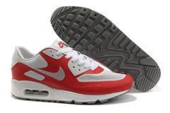 Nike Air Max 90 Mesh White Red Shoes