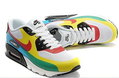 Nike Air Max 90 Mesh White Yellow Red Green Shoes
