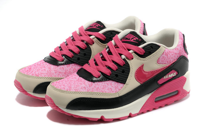 Nike Air Max 90 Pink Black Grey For Women
