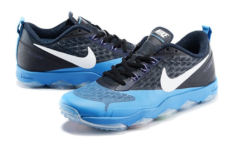 Black Blue Nike Zoom Hypercross Running Shoes