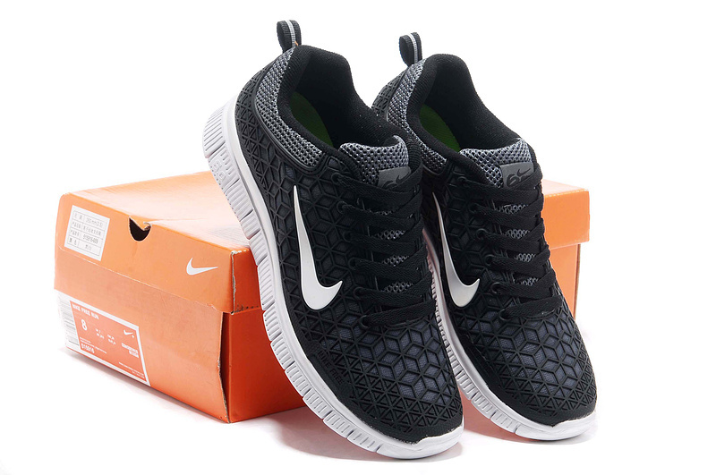 Women Nike Free 6.0 Mesh Black White Shoes