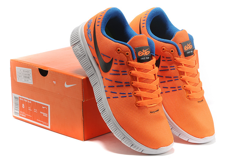Women Nike Free 6.0 Mesh V2 Orange Blue White Shoes