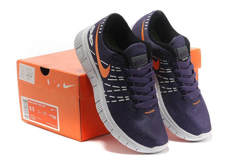 Breathable Women Nike Free 6.0 V2 Purple Orange Shoes