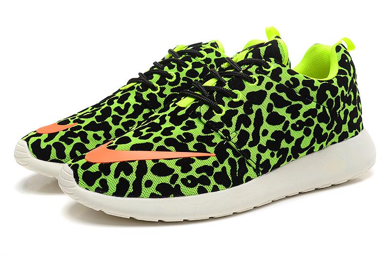 Fashion Nike Rosherun FB Black Green Orange White Running Shoes