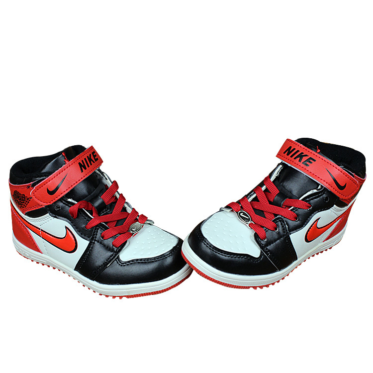 Nike Air Force High Black Red White Shoes For Kid