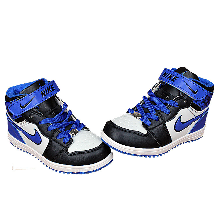 Nike Air Force High Black Royal Blue White Shoes For Kid