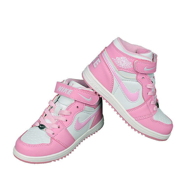 Nike Air Force High Pink White Shoes For Kid