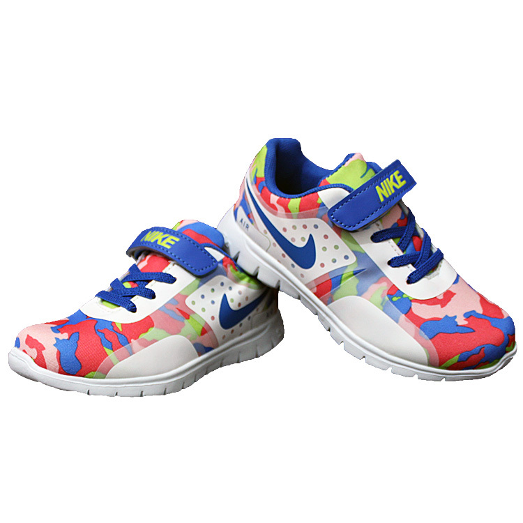 Nike Air Force Strap Red Green Colorful Shoes For Kid