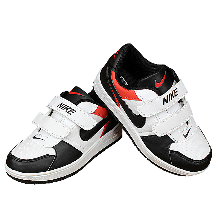 Nike Air Force White Black Red Shoes For Kid