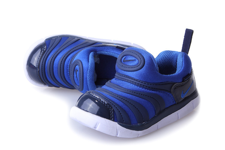 Kids Nike Dynamo Free Black Blue Shoes