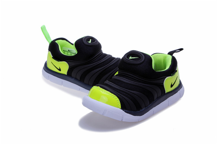Kids Nike Dynamo Free Black Fluorscent Green White Shoes