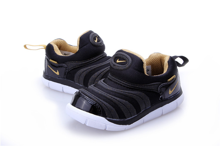 Kids Nike Dynamo Free Black Yellow White Shoes