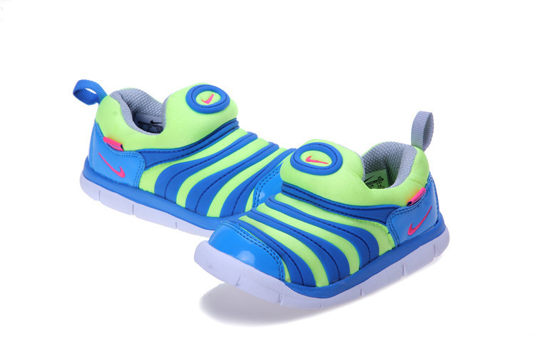 Kids Nike Dynamo Free Blue Green Shoes