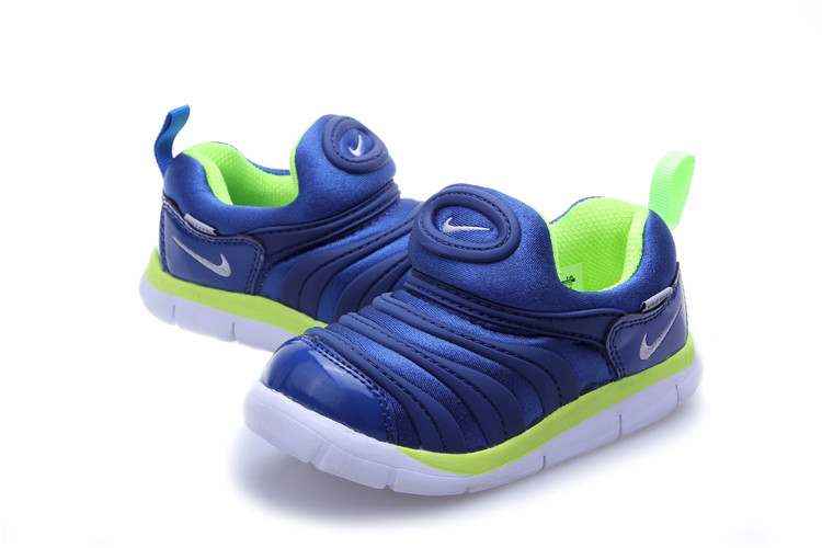 Kids Nike Dynamo Free Blue Green White Shoes