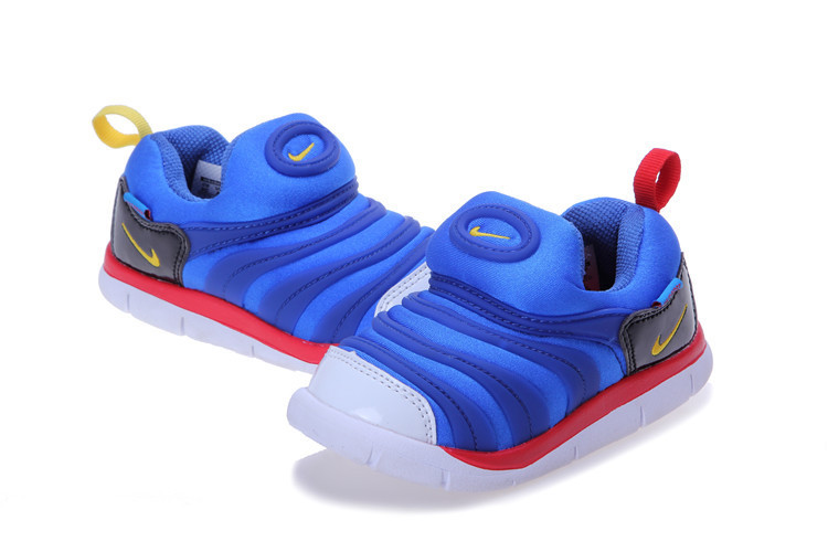 Kids Nike Dynamo Free Blue Red Black White Shoes