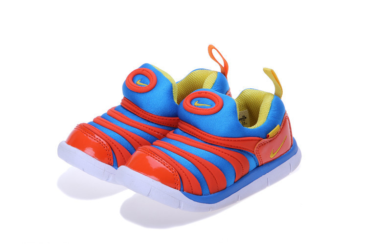 Kids Nike Dynamo Free Blue Red White Shoes