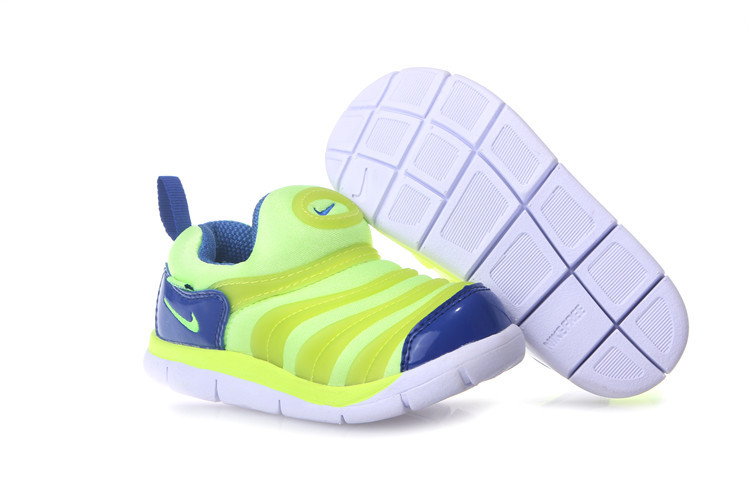 Kids Nike Dynamo Free Fluorscent Green Green White Shoes