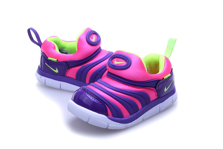 Kids Nike Dynamo Free Pink Purple White Shoes