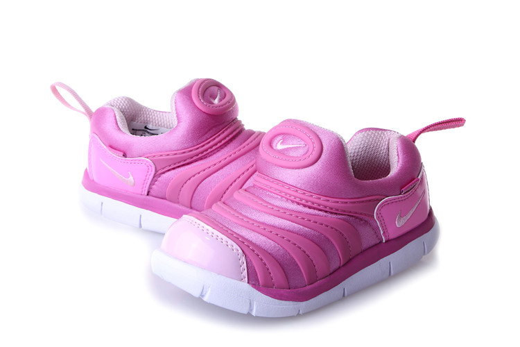 Kids Nike Dynamo Free Pink White Shoes