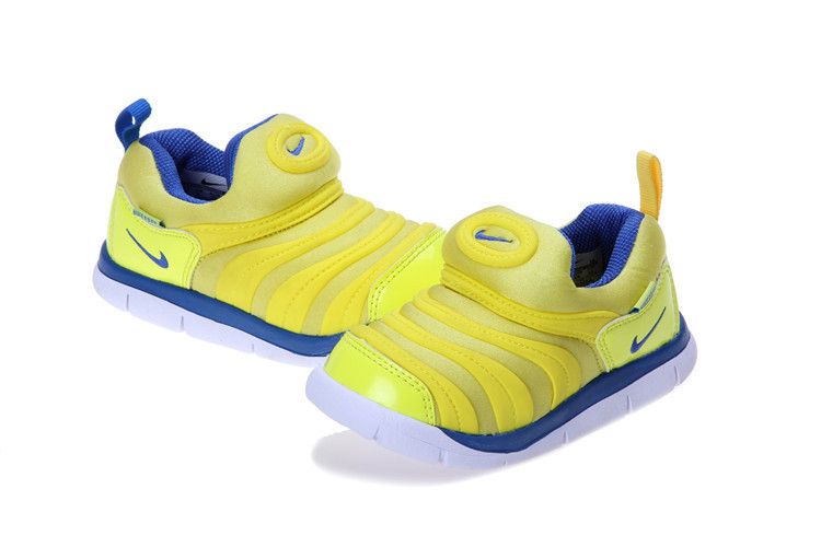Kids Nike Dynamo Free Yellow Blue Shoes