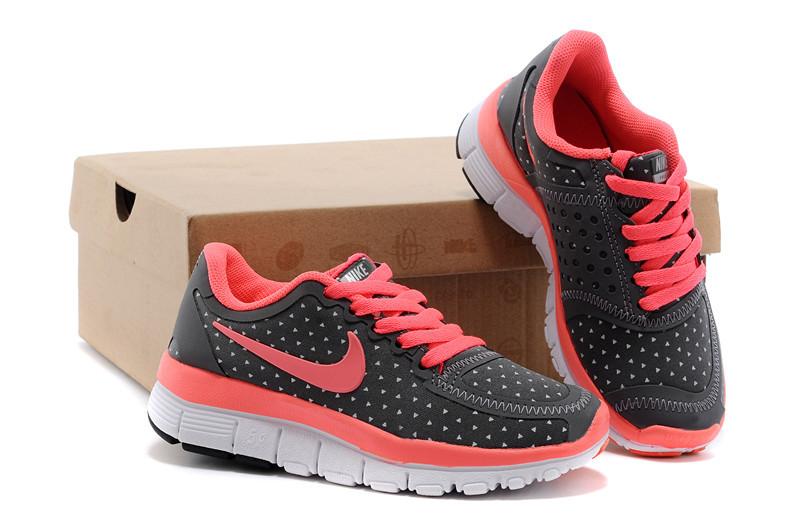 Kids Nike Free 5.0 Black Red White Running Shoes