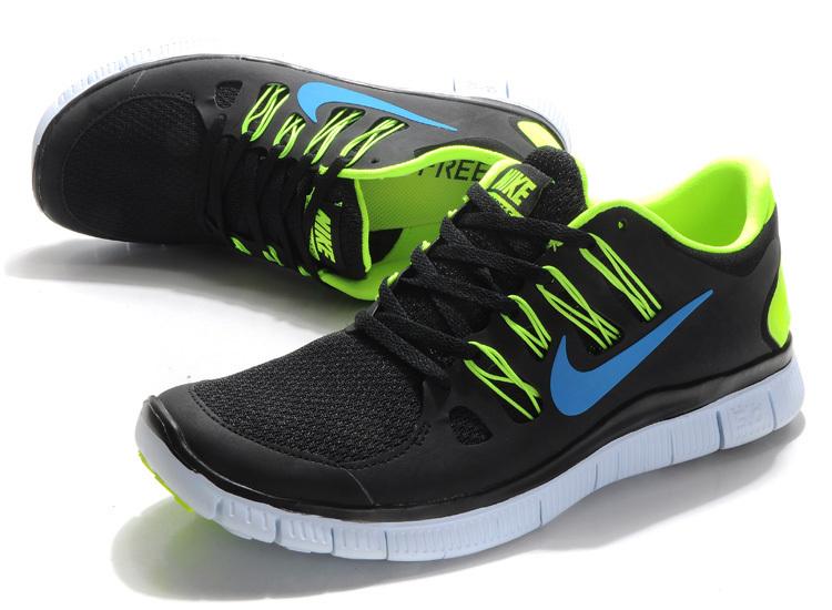 New Nike Free 5.0 Black Green Running Shoes