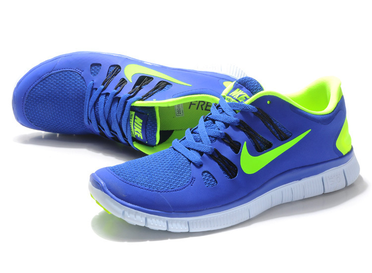 New Nike Free 5.0 Blue Green White Running Shoes