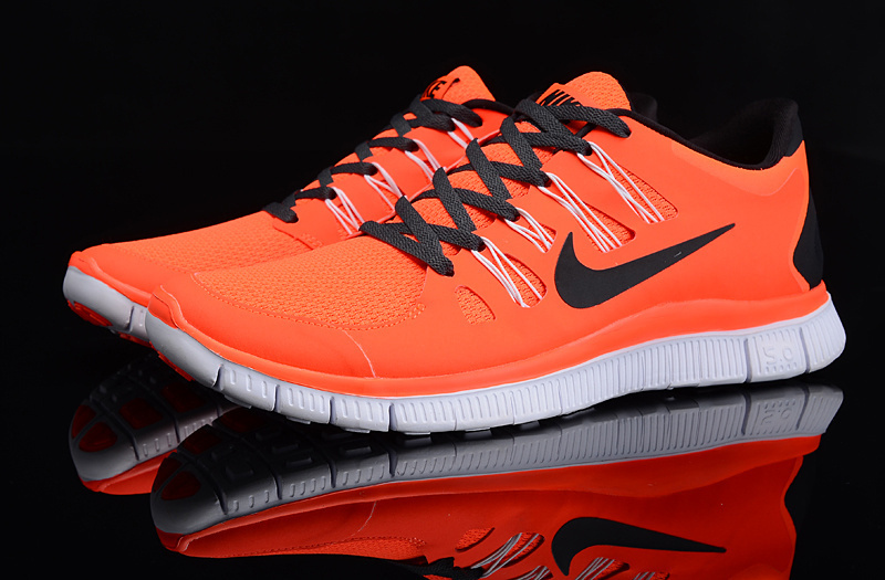 New Nike Free 5.0 Orange Black White Running Shoes