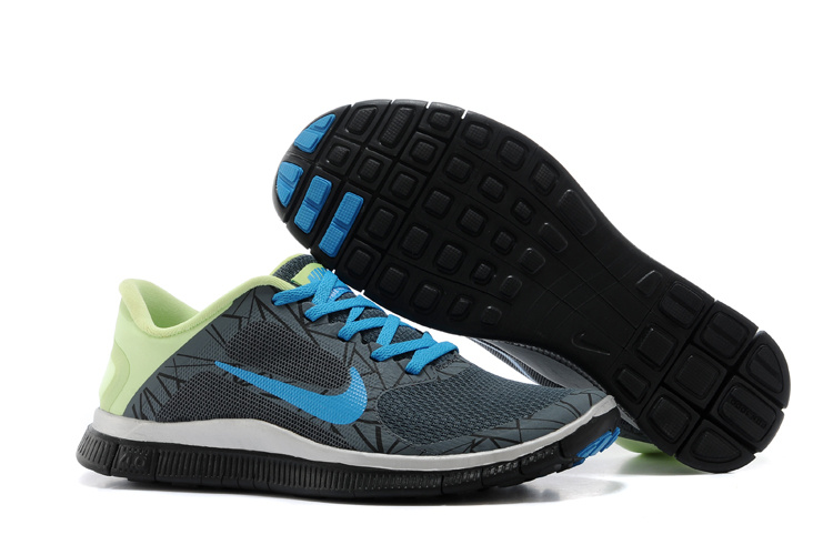 Limited Nike 4.0 V3 Colorful Black Blue Green Running Shoes