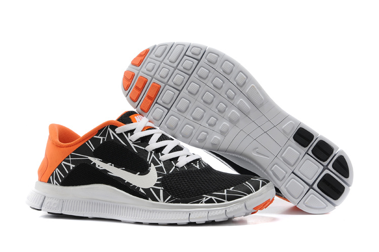 Limited Nike 4.0 V3 Colorful Black White Orange Running Shoes