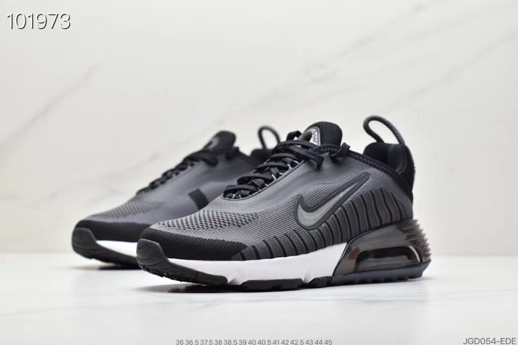 2020 Nike Air Max Vapormax 2090 Flyknit Grey Black White for Women