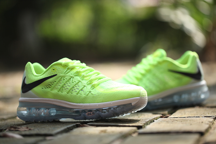 Women Nike Air Max 2015 Green Black Running Shoes