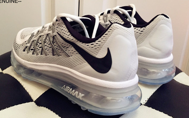 Nike Air Max 2015 Silver Black Running Shoes