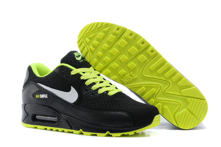 Nike Women Air Max 90 Knit Black Green Shoes