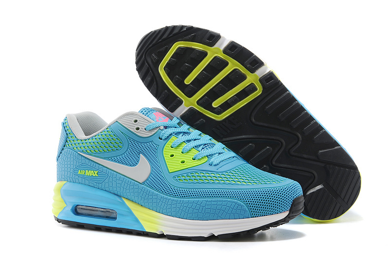 Nike Women Air Max 90 Rubber Patch 25th Anniversary Peach Light Blue Green White