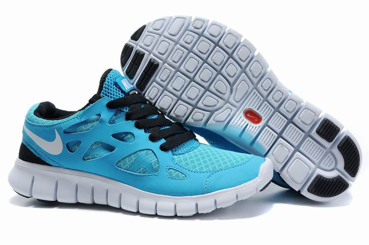 Women Nike Free Run 2.0 Blue Black Running Shoes
