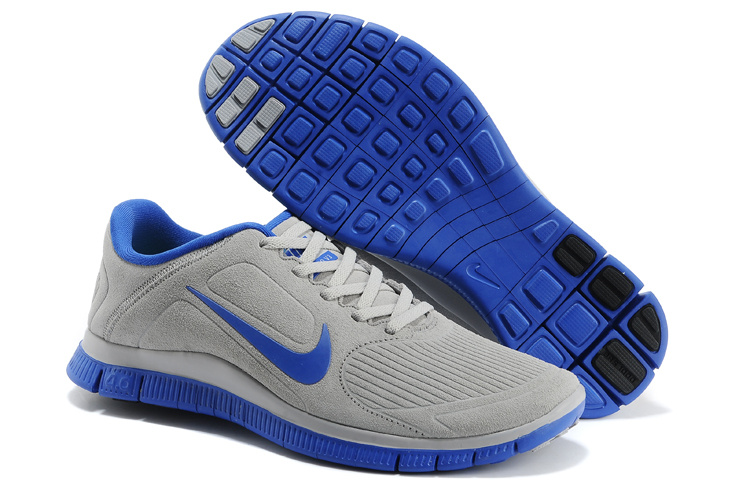 Nike Free Run 5.0 Suede Grey Blue Shoes