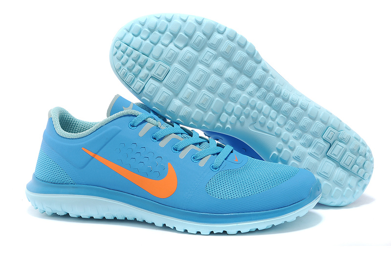 Nike FS Lite Run Light Blue Orange