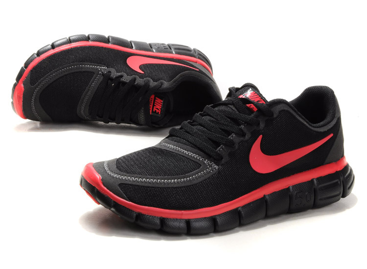 Nike Free Run 5.0 V4 Black Red Shoes