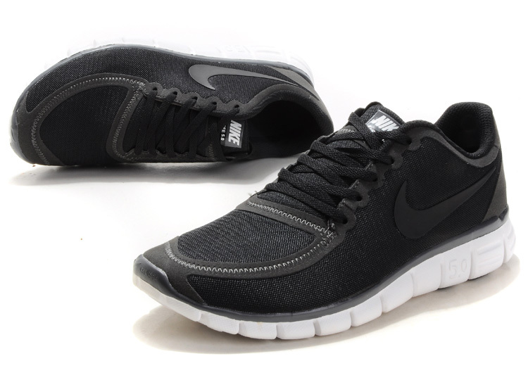 100% authentic 26a2c af389 ... inexpensive nike free run 5.0 v4 black white shoes 48480 9f78d