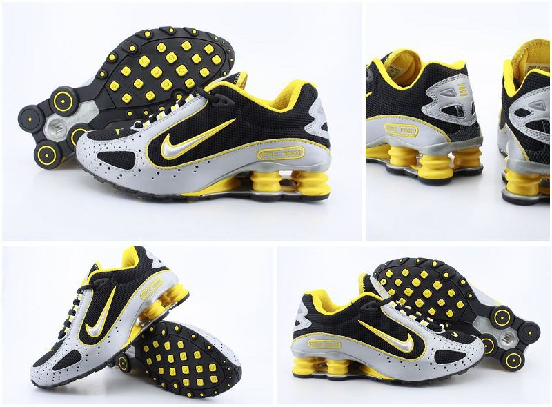 Nike Shox Monster Shoes Black Grey Yellow